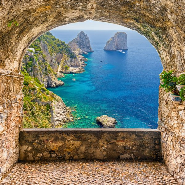 View of Capri, Italy